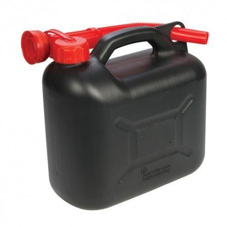 Plastový kanystr na benzín, PHM, 10 L, černý