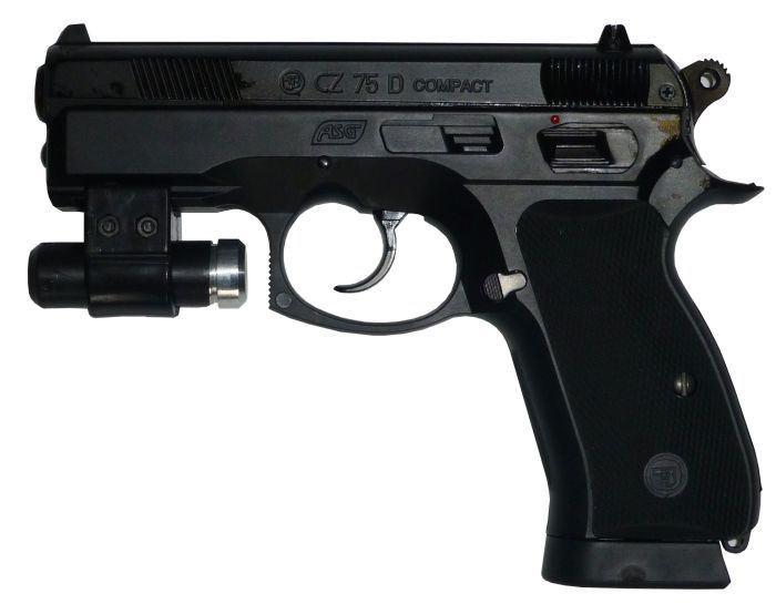 Laserová zbraň - Plynová CZ75 + podvěsný zářič