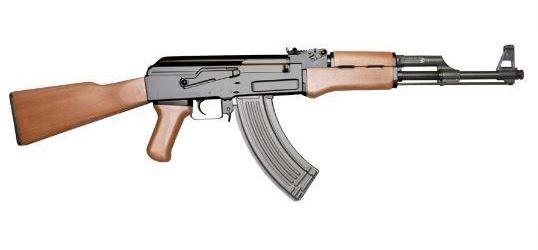 Laserová zbraň - AK47 - červený laser  - elektro