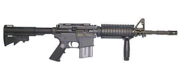 Laserová zbraň - M4 - červený laser  - elektro