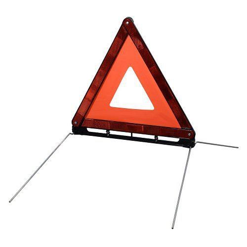 Výstražný trojúhelník v plastovém pouzdru. Homologace E