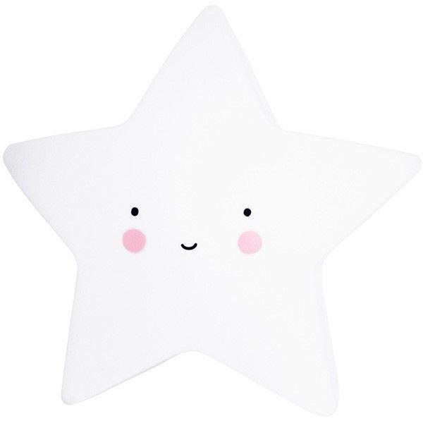 Noční světlo LED  hvězdička- bílá