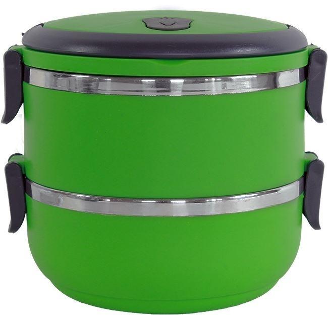 Termo jídlonosič se sklopnými uchy 2x 0,5l zelený
