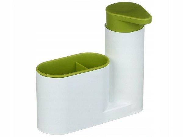 Organizér do kuchyně s dávkovačem, bílo-zelený