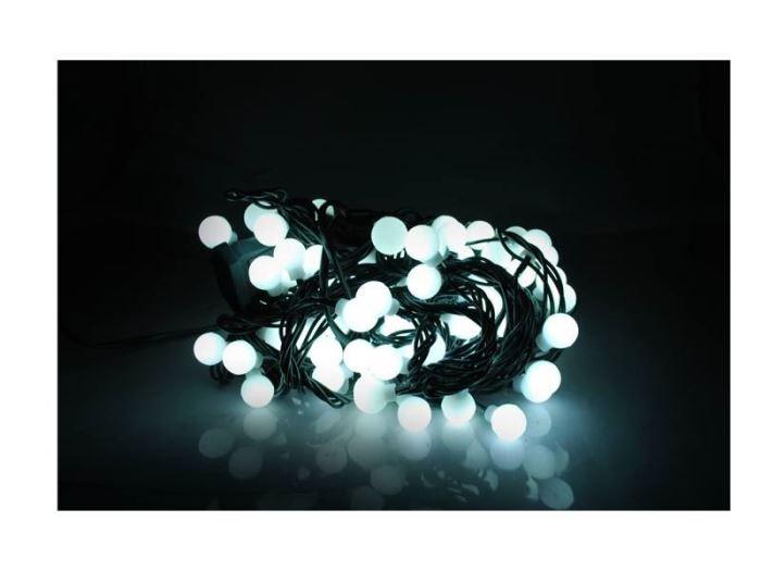 Vánoční  osvětlení řetěz  kuličky 100LED, 10,6m,  bílá