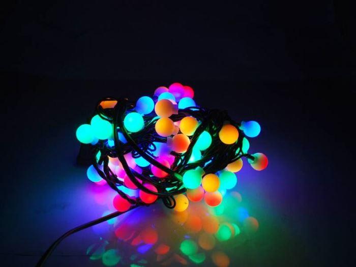 Vánoční  osvětlení řetěz  kuličky 100LED, 10,6m, multicolour