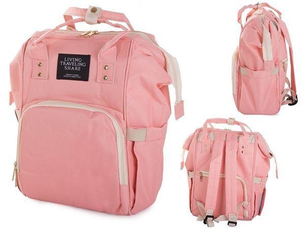 Batoh nejen pro maminky s vodotěsnou kapsou, růžový