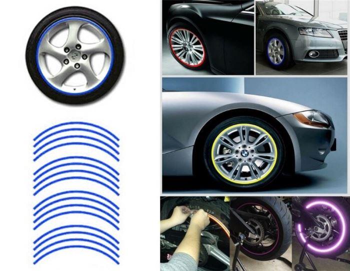 Reflexní pásky na kola, modrá
