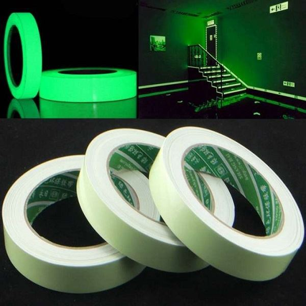 Samolepící fluorescenční páska 12mmx3m