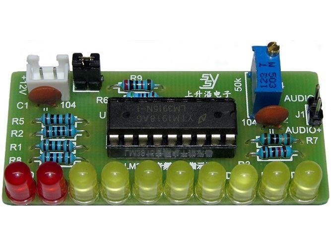 Indikátor vybuzení 10 LED, STAVEBNICE