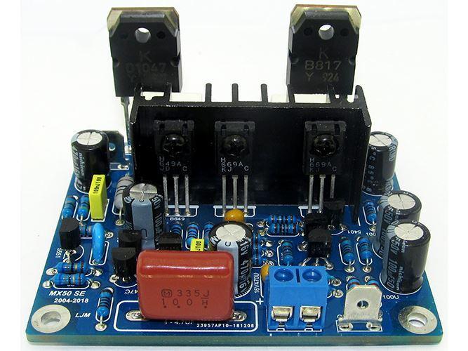Zesilovač 100W, 2x modul MX50,  STAVEBNICE