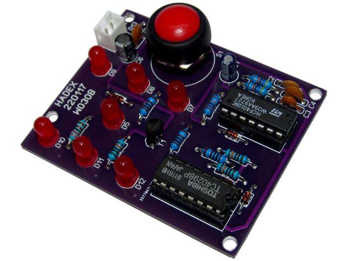 Hrací kostka elektronická žlutá STAVEBNICE