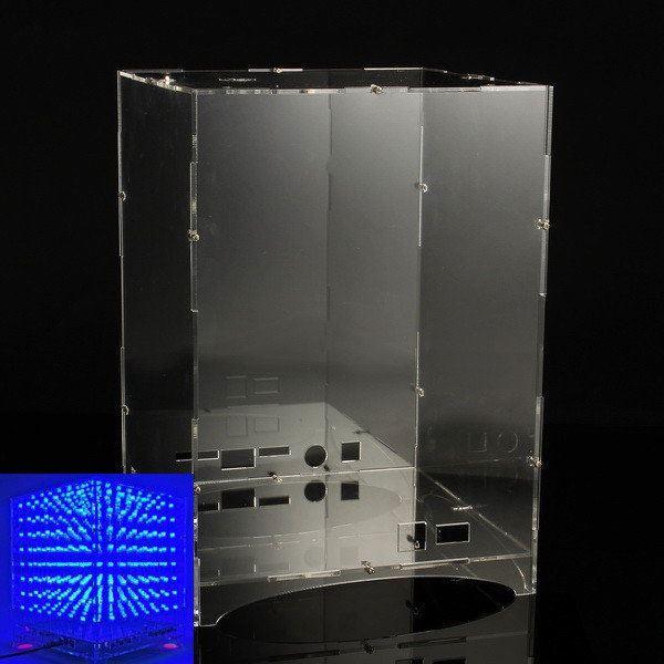 Kryt z plexiskla pro světelnou krychli LED 3D 8x8x8