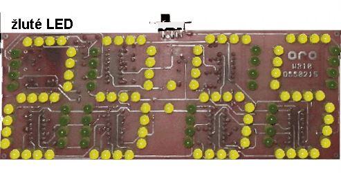 Digitální hodiny LED žlutá STAVEBNICE