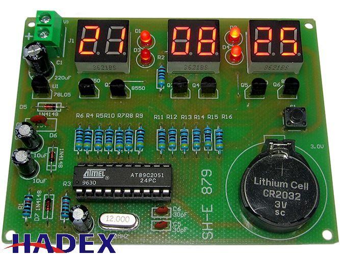 Digitální hodiny LED SH-E 879 s AT89C2051 - STAVEBNICE