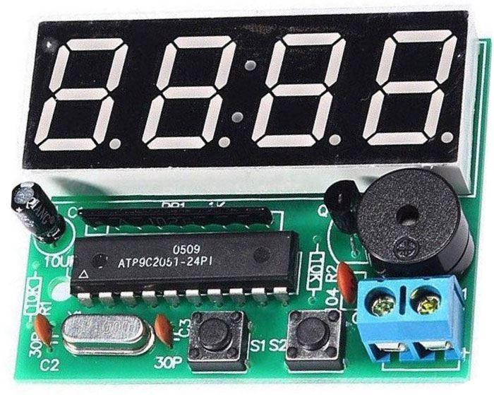 Digitální hodiny LED s STC11FC2, 4digit - STAVEBNICE