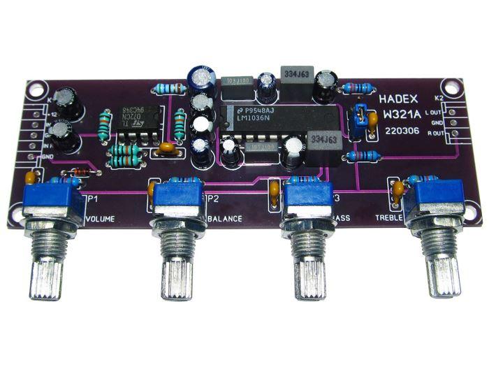 W321 - Korekční předzesilovač HiFi STAVEBNICE