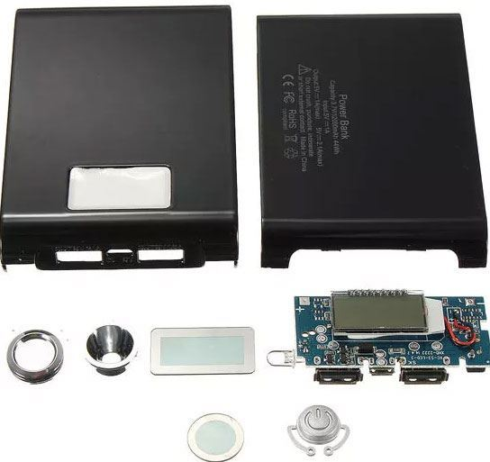 Powerbanka 5V/1A+2A bez baterie - STAVEBNICE