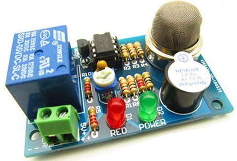 Detektor hořlavých plynů se senzorem MQ-2, výstup relé, STAVEBNICE