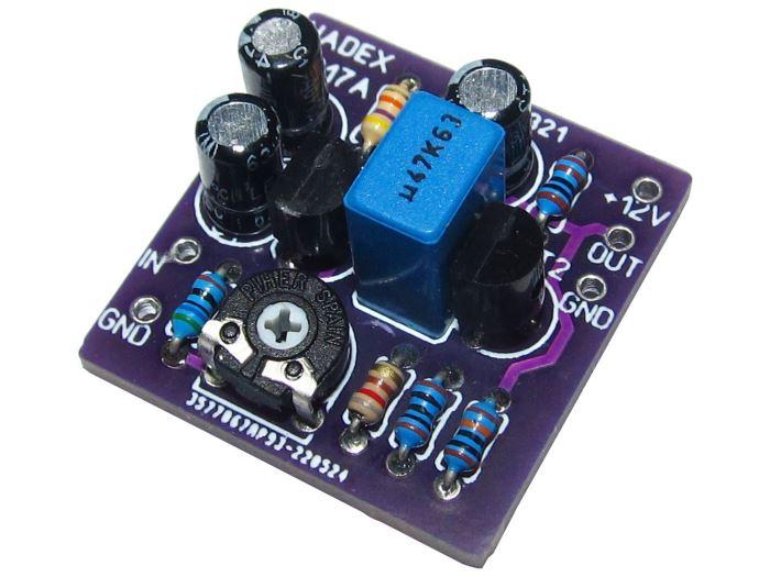 Předzesilovač pro dynamický mikrofon MONO STAVEBNICE