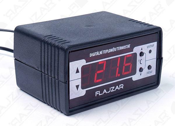 Digitální termostat -30 až 125°C + čidlo s kabelem 2m, stavebnice