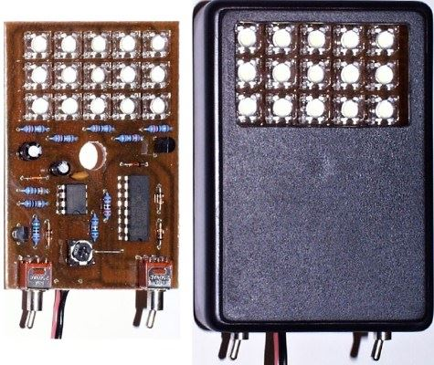Stroboskop 12V s 15LED auto-tuning STAVEBNICE