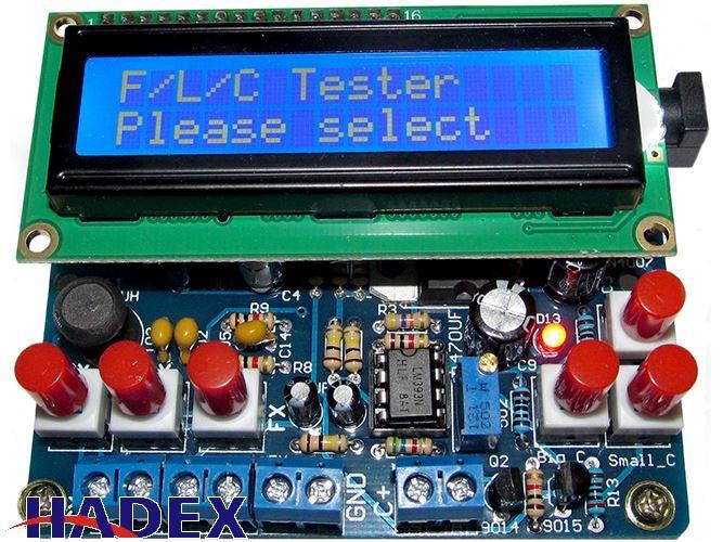 R-L-C tester s displejem LCD1602