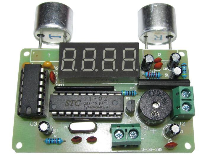 Ultrazvukový měřič vzdálenosti a alarm - STAVEBNICE