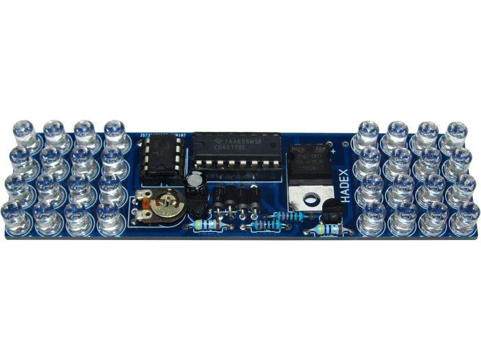 Policejní maják s 32 LED diodami modrý STAVEBNICE